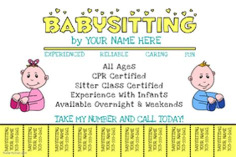 modèle annonce baby sitting word customizable design templates for baby sitting postermywall