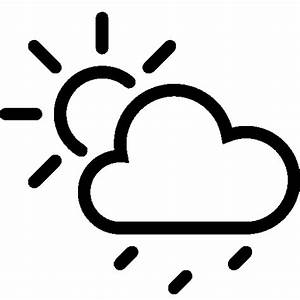 Weather Partly Cloudy Rain Icon | iOS 7 Iconset | Icons8