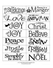 Template Christmas Printable Sayings