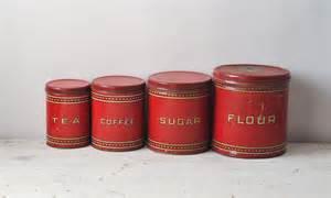 Black Kitchen Canister Sets Vintage Canister Set 1930 39 S Metal Set Flour By Fallaloft