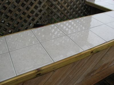 ceramic tile outdoor kitchen countertop question i