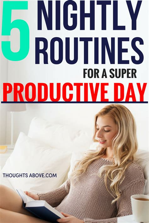 simple nightly routines    productive day