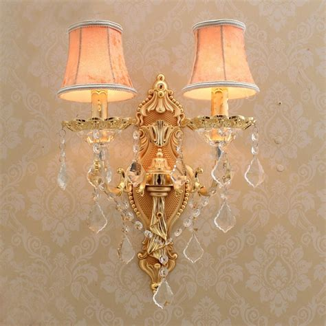 satin gold wall sconce with fabric shade modern led