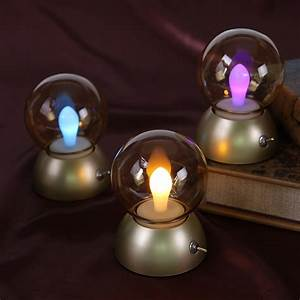 British, Vintage, Table, Lamp, Highlight, 5w, Led, Bulb, Rechargeable, Night, Light, Retro, Fashion, Small