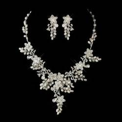 bridesmaid jewelry set glamorous pearl rhinestone floral bridal jewelry sets bridal wedding accessories