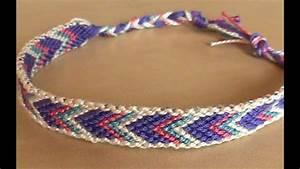 bracelets brésiliens chevron avec bordure débutant