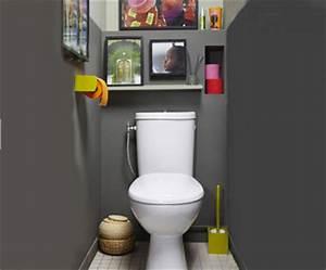 couleur peinture et rangement pour wc et toilette roses With couleur de peinture pour toilette 6 conseil deco salle de bain et toilette