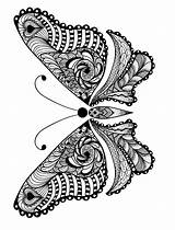 Coloring Pages Adult Animals Adults Animal Butterfly Printable sketch template