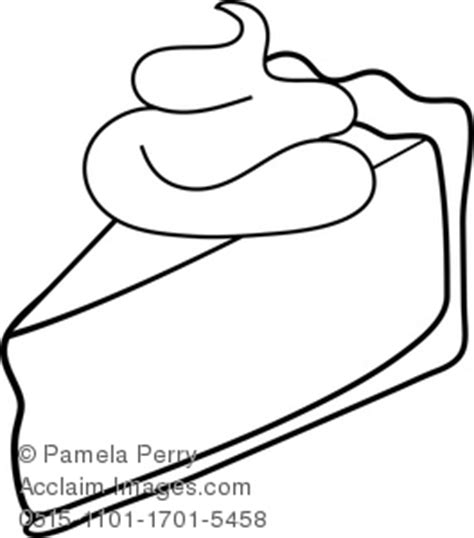 clip art illustration   piece  cream pie coloring page