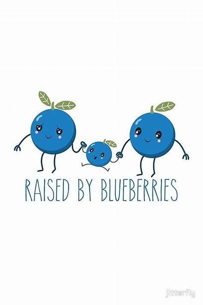 Blueberries Blueberry Raised Funny Humor Phone