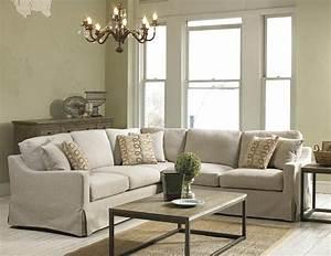 Belgian linen slipcover look sectional belfort furniture for Sectional sofa northern virginia