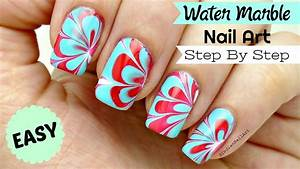 How To Do Easy Water Marble Nail Art Step By Step Tutorial ...