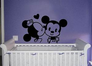 classic mickey and minnie mouse kissing vinyl wall decal With enchanting minnie mouse decals for walls