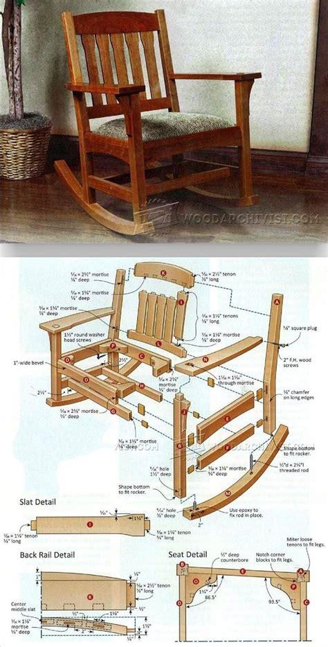 arts crafts rocking chair plan furniture plans