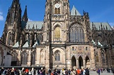 Side view of St Vitus Cathedral and the Prague Castle ...