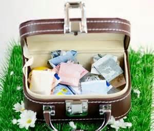 hochzeitsgeschenke geld geldgeschenke zur hochzeit schön verpackt als minireisekoffer - Hochzeitsgeschenke Geld