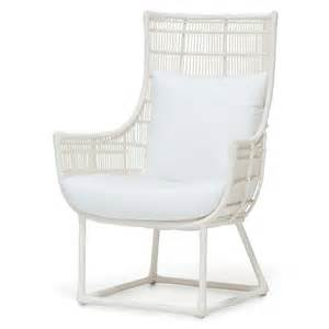 tyler modern classic faux wicker cream outdoor lounge chair salt kathy kuo home