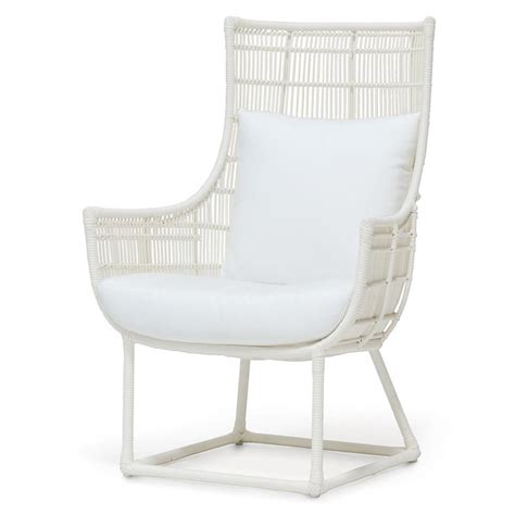 modern classic faux wicker outdoor lounge