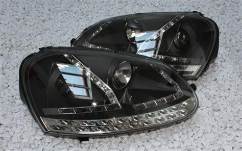 golf 5 led scheinwerfer klarglas scheinwerfer vw golf 5 jetta led tagfahrlicht tfl schwarz led blinker ebay