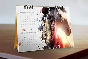 Free, Download, Desk, Calendar, Mockup, In, Psd