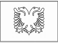 Albania flag coloring picture