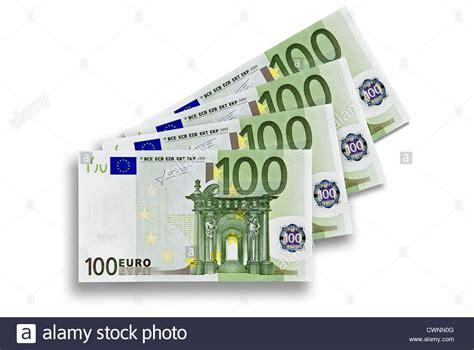 Four 100 Euro Banknotes, 400 Euros, Four Hundred Euro