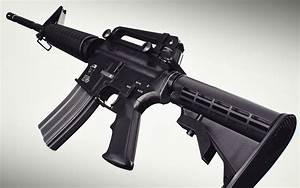 Assault rifle Closeup M4 weapon gun military g wallpaper ...