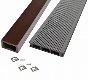 Lame De Terrasse Composite : kit terrasse bois composite gris anthracite mdsa france ~ Edinachiropracticcenter.com Idées de Décoration