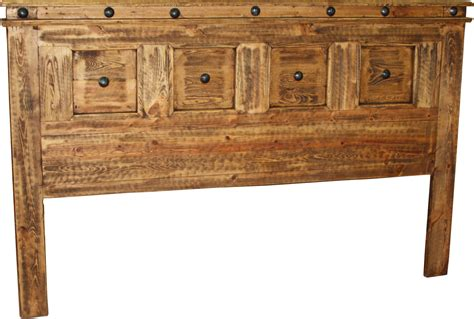 francis king headboard  durango trail rustic furniture