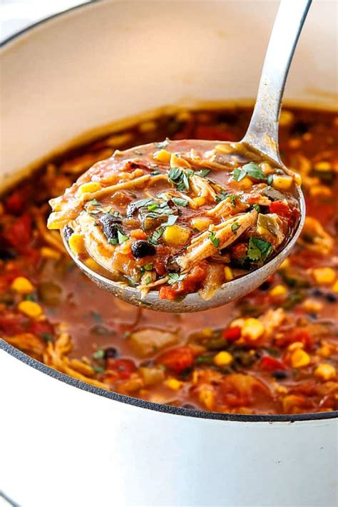 chicken tortilla soup easy  minutes  slow cooker