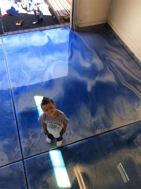 blue epoxy garage metallic flooring gilbert az epoxy