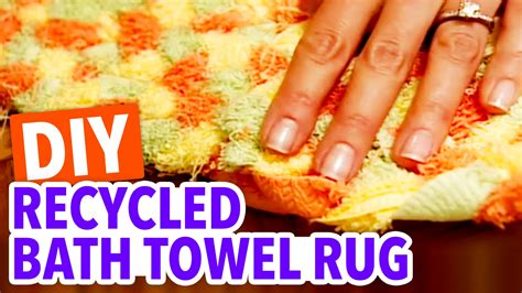 recycled bath towel rug throwback thursday hgtv