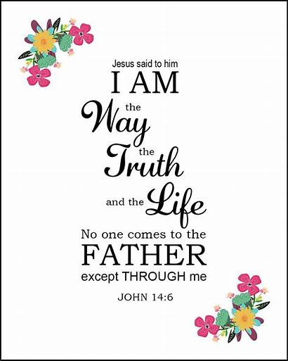 John Bible Verse Am Way Verses Truth