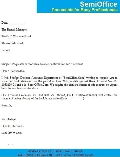 bank balance confirmation letter sample