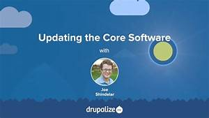Drupal 8 User Guide  13 5  Updating The Core Software