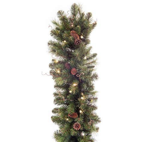 led pre lit garland black forest pine pre lit clear led garland store