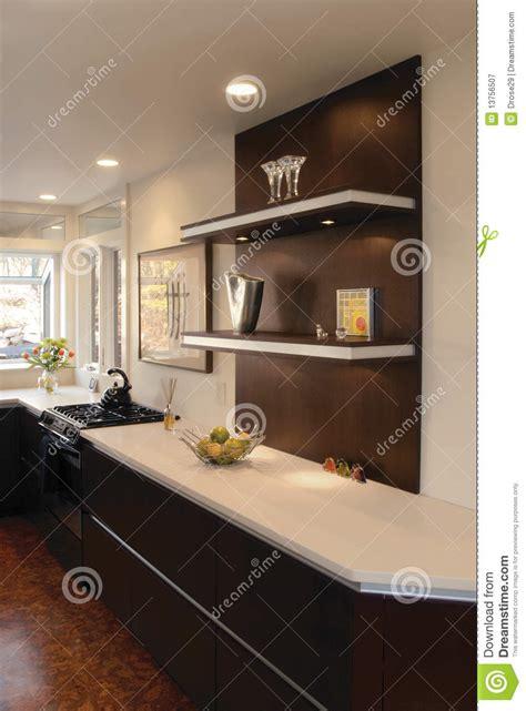 kitchen  floating shelves stock image image