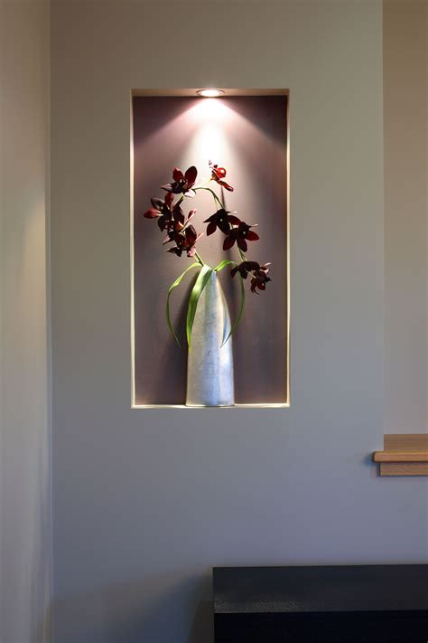 coloured recessed walls are an easy way to introduce a