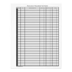 Printable Bank Transaction Register