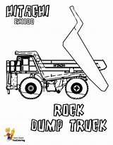 Coloring Dump Truck Pages Hitachi Trucks Boys Rock Construction Colouring Farm Equipment Yescoloring Vehicles Dirty sketch template