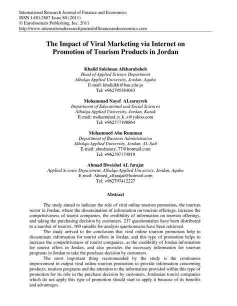 marketing via pdf the impact of viral marketing via on