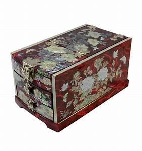 Boite À Bijoux Design : grande boite bijoux rouge avec miroir design ~ Melissatoandfro.com Idées de Décoration