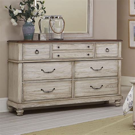 white dresser furniture arrendelle dresser rustic white vaughan bassett
