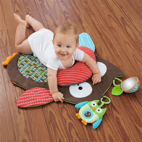 best tummy time mat skip hop tummy time mat hug and hide owl baby