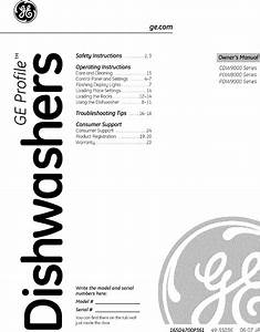 Ge Cdw9380n00ss User Manual Cafe Dishwasher Manuals And