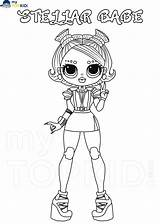 Omg Lol Coloring Lady Dolls Printable Sporty Fashionable Mytopkid sketch template