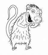 Opossum Coloring Virginia Pages Drawing Age Ice Animals Getcolorings Colouring Getdrawings Printable Possums sketch template