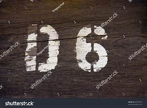 rustic d6 stencil letter number on stock photo 26378104 With painting stencil letters on wood