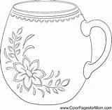 Coloring Starbucks Coffee Cup Wine Tea Sketch Colorpagesformom Printable Adults Template Adult Frappuccino Cool Coloringpages sketch template