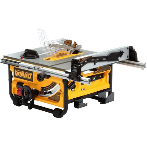 dewalt table saw dewalt 15 amp 10 in compact site table saw with site